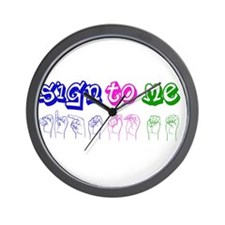 Sign to Me Wall Clock