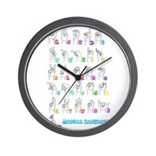 Manual Alphbet Wall Clock