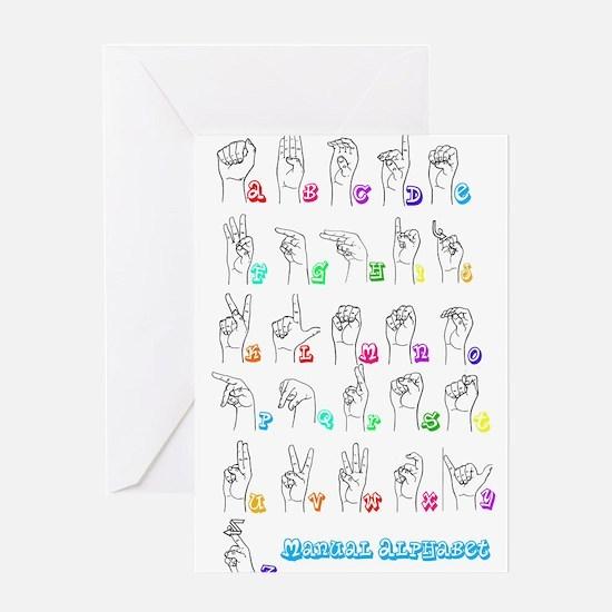 Manual Alphbet Greeting Card