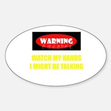 WARNING! Sticker (Oval)