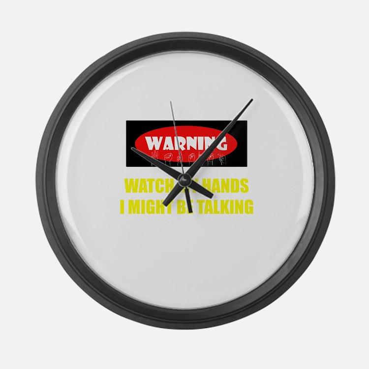 WARNING! Large Wall Clock