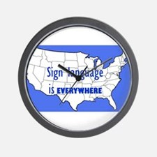 Sign Language is Everywhere Wall Clock