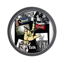 Deaf hands talk Wall Clock