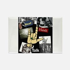 Deaf hands talk Rectangle Magnet