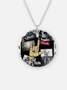 Deaf hands talk Necklace