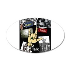 Deaf hands talk 22x14 Oval Wall Peel