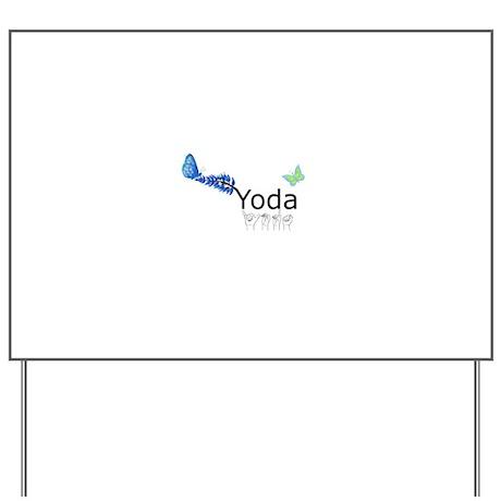 Yoda Fingerspelled Yard Sign