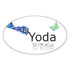 Yoda Fingerspelled Decal