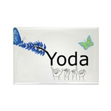 Yoda Fingerspelled Rectangle Magnet