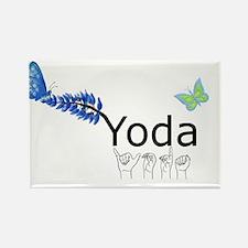 Yoda Fingerspelled Rectangle Magnet