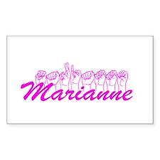 Marianne Fingerspelled Decal