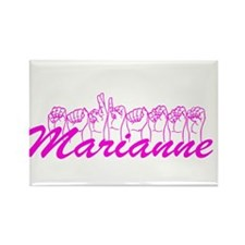 Marianne Fingerspelled Rectangle Magnet