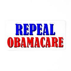 Repeal Obamacare Aluminum License Plate