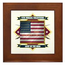 9th Indiana Volunteer Infantr Framed Tile