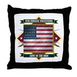 9th Indiana Volunteer Infantr Throw Pillow