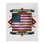 9th Indiana Volunteer Infantr Throw Blanket