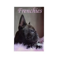Faux Frenchie Rectangle Magnet