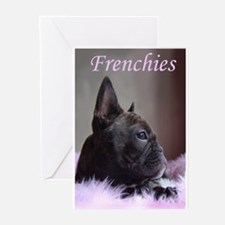 Faux Frenchie Greeting Cards (Pk of 10)