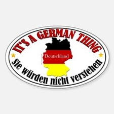 German Thing Sticker (Oval)