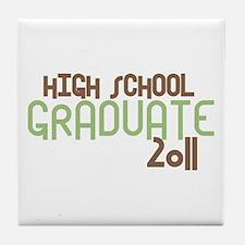 High School Graduate 2011 (Retro Green) Tile Coast