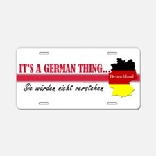 German Thing Aluminum License Plate