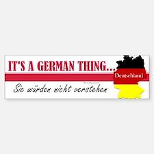 German Thing Bumper Bumper Sticker