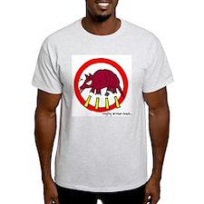 raging armor-back Ash Grey T-Shirt