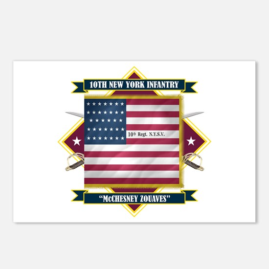10th New York Infantry Postcards (Package of 8)