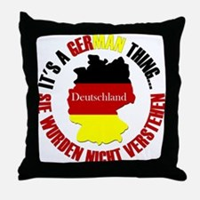 German Thing Throw Pillow