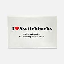 Switchbacks Mt. Whitney Rectangle Magnet
