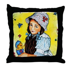 Holly Spring Covers Throw Pillow