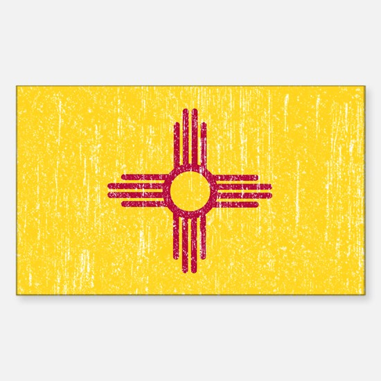Vintage New Mexico Sticker (Rectangle)