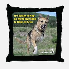 Tripawd Jerry Throw Pillow