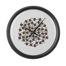 Honeybee Swarm Large Wall Clock