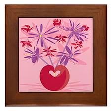 Retro Bouquet Framed Tile