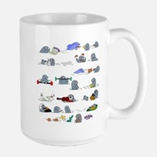 Otters by the Sea Large Mug