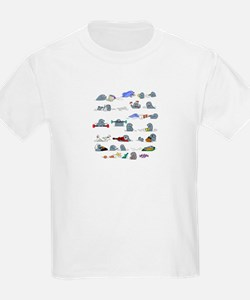 Otters by the Sea Kids T-Shirt