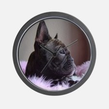 Faux Frenchie Wall Clock
