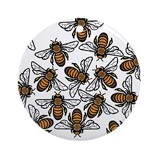 Bee Gathering Ornament (Round)