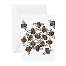 Bee Gathering Greeting Cards (Pk of 10)