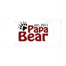 Papa Bear Est 2011 Aluminum License Plate