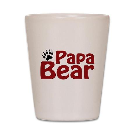 Papa Bear Claw Shot Glass