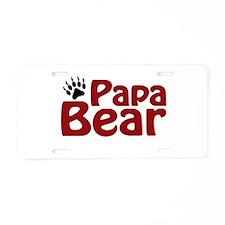 Papa Bear Claw Aluminum License Plate