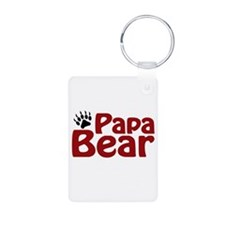 Papa Bear Claw Keychains