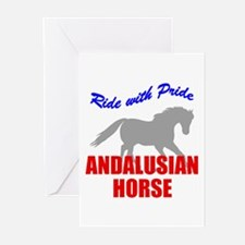 Ride With Pride Andalusian Horse Greeting Cards (P