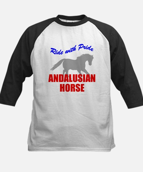 Ride With Pride Andalusian Horse Kids Baseball Jer
