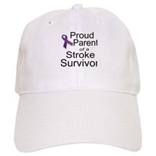 Proud Parent with ribbon Baseball Cap