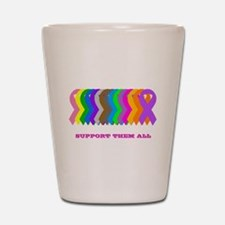 Support them all Shot Glass