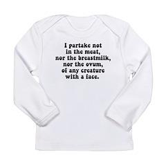Vegan Long Sleeve Infant T-Shirt