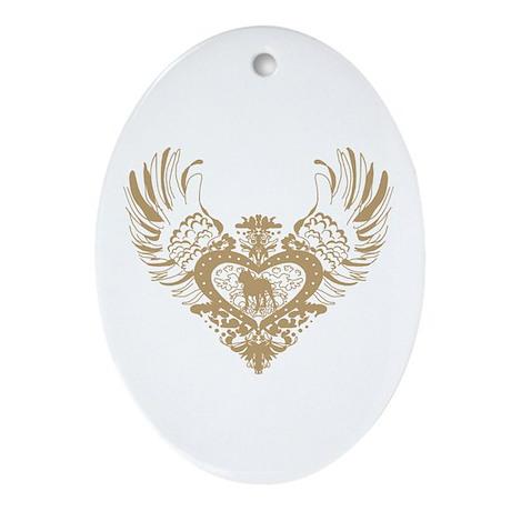 Pit Bull Ornament (Oval)
